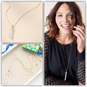 Stella and Dot Stone Rebel Pendant Gold